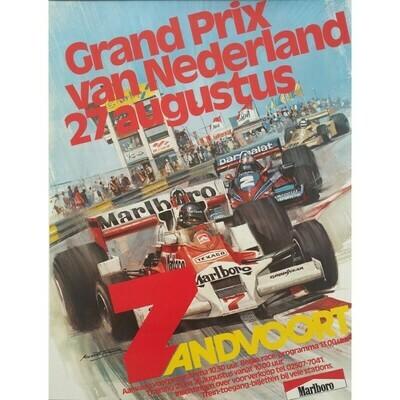 Raceposter Grand Prix Zandvoort 1978