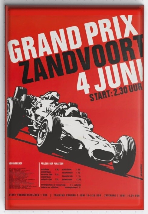 Magneet Grand Prix poster 1967