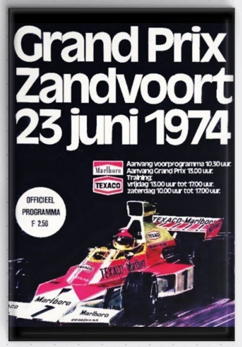 Magneet Grand Prix poster 1974