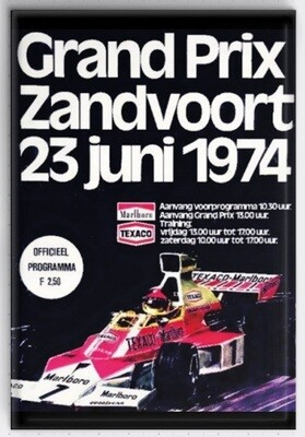 Magneet Grand Prix poster 1974