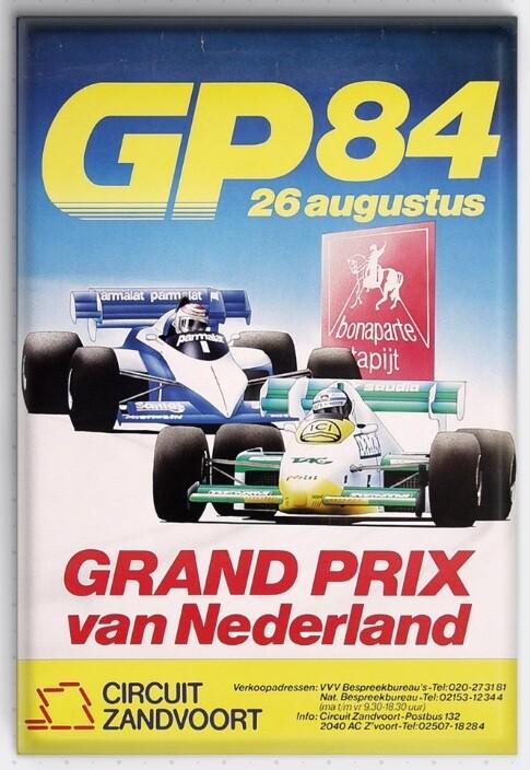 Magneet Grand Prix poster 1984