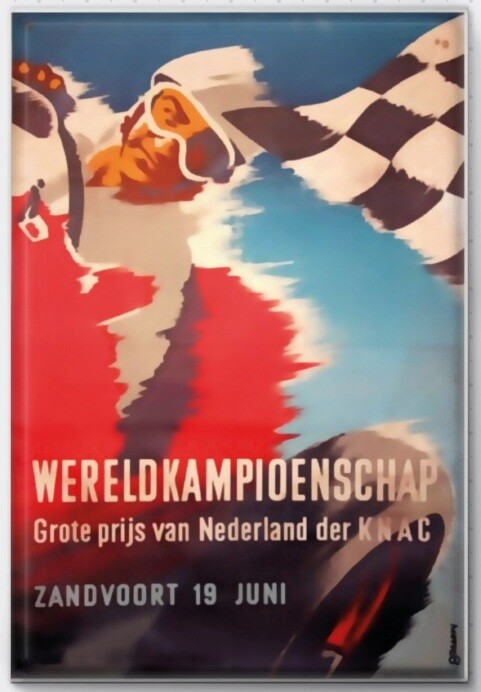 Magneet Grand Prix poster 1955
