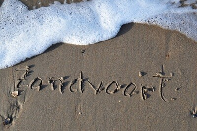 Zandvoort in het zand - print op canvas