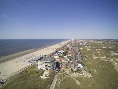 Luchtfoto Zandvoort aan Zee - print op canvas