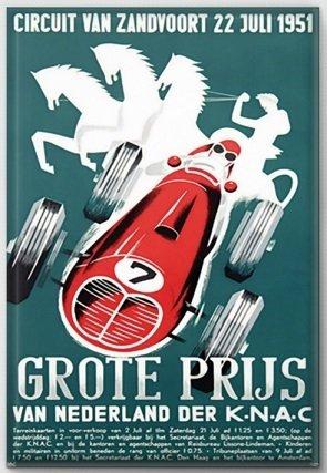 Magneet Grand Prix poster 1951