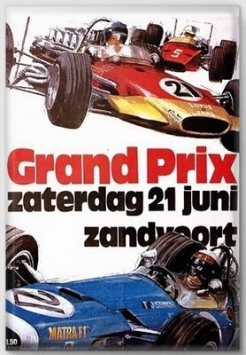 Magneet Grand Prix poster 1970