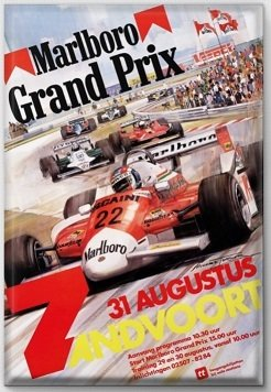 Magneet Grand Prix poster 1980