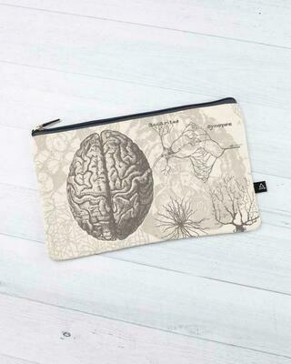Brain Anatomy Zip Case