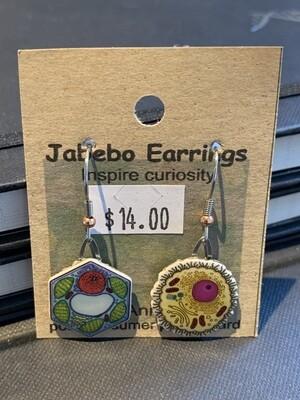 Plant & Animal Cell Earrings