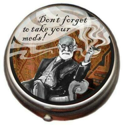 Sigmund Freud Pill Box