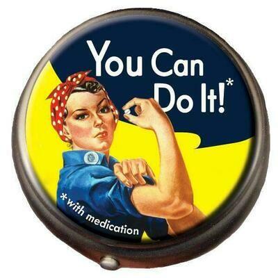 Rosie the Riveter Pill Box