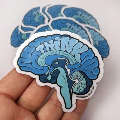 Anatomical Element THINK Brain Sticker