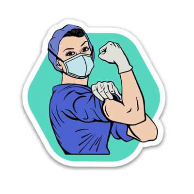 Rosie the Medical Professional Sticker - Scrubs
