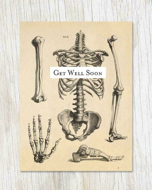 Skeleton Get Well Card