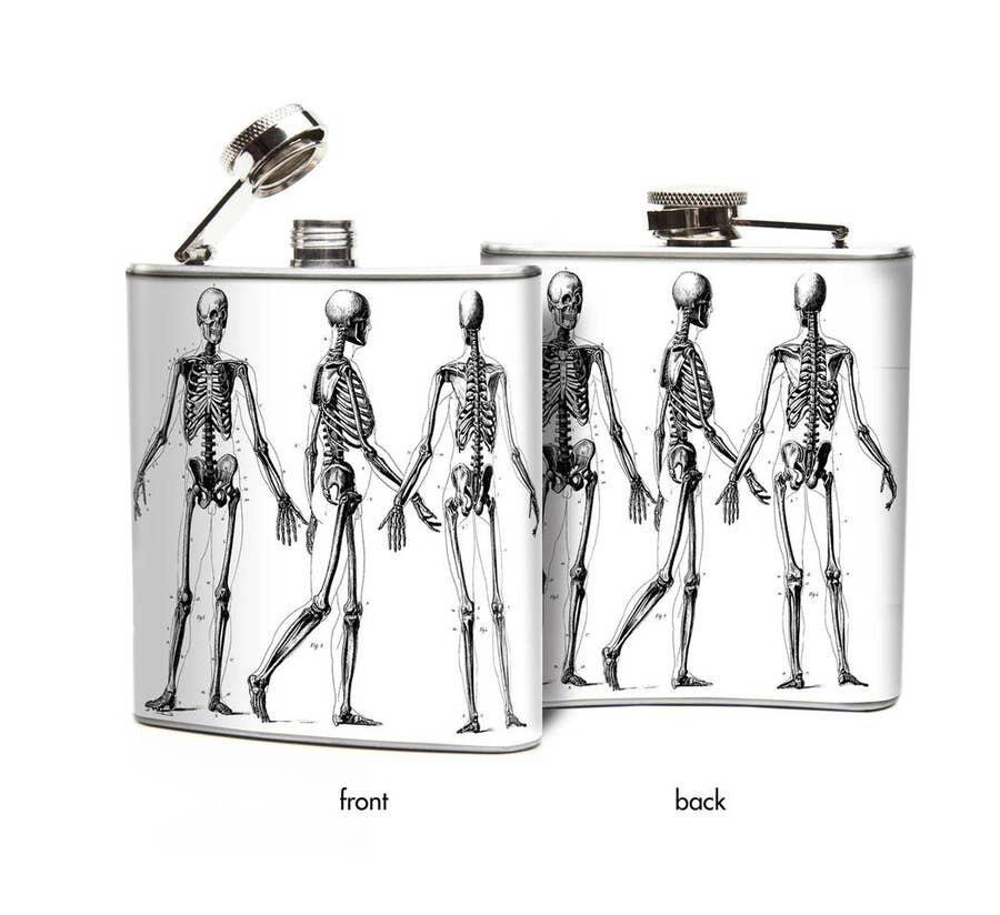 Skeletons Hip Flask