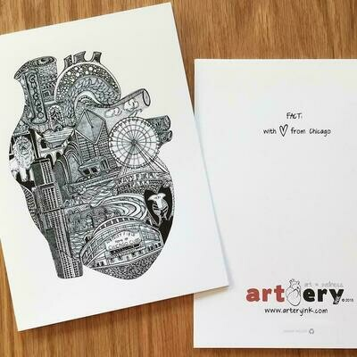 Chicago Heart - Any Occasion Card