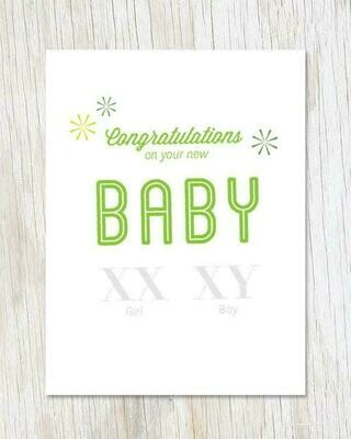 New Baby XX XY Card