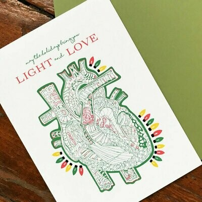Bright Heart Holiday Card