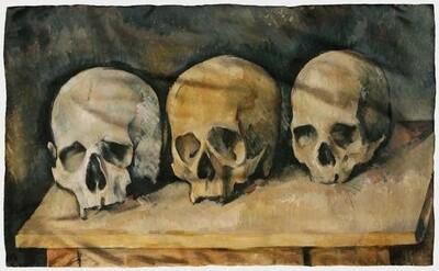 Cezanne Three Skulls Scarf