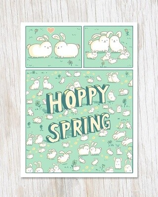 Hoppy Spring Card