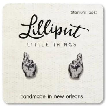 Fingers Crossed Earrings