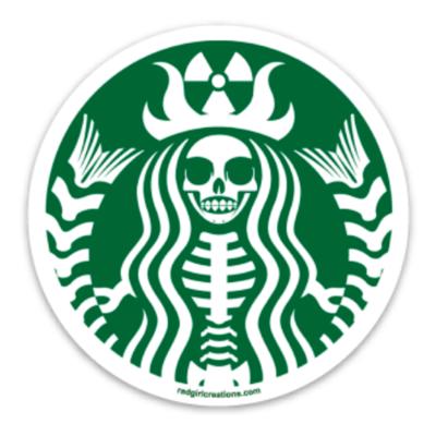 Radioactive Coffee Sticker