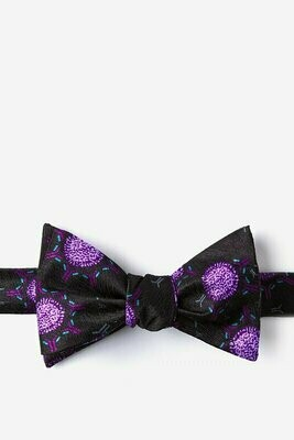 Black Silk Vaccine Bow Tie