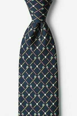 Real Dentists Wear Plaid Gray  Silk Tie