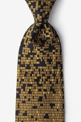 My Doom Cyber Virus Silk Tie