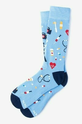 Medical Supplies Light Blue Socks