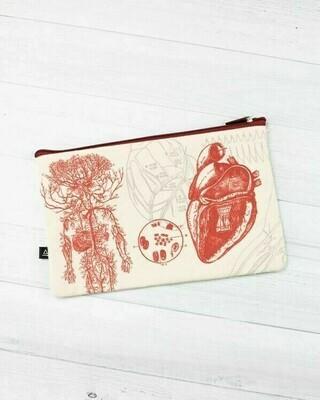 Anatomical Heart Zip Case