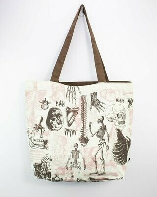 Skeleton Canvas Shoulder Tote