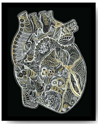 Metallic Heart - 8x10 Print