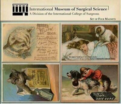 IMSS Set of Four Magnets: Apothecary Pets