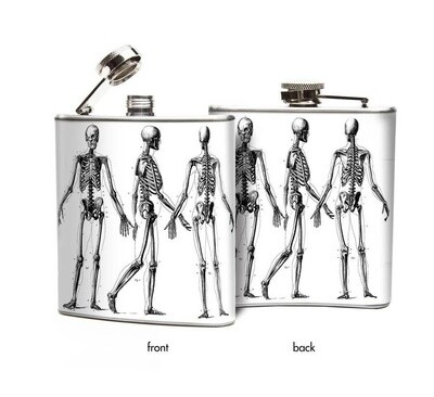 Skeletons Hip Flask