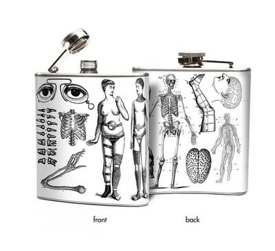 Anatomical Devices Steam Punk Hip Flask