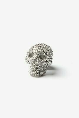 Silver Skull Lapel Pin