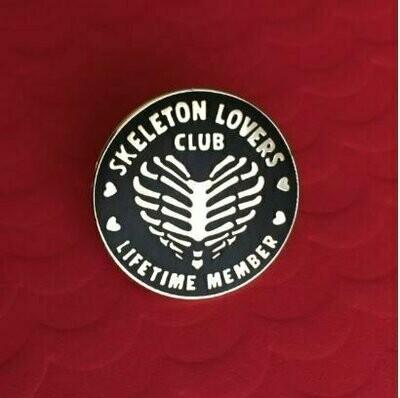 Skeleton Lovers Club Pin