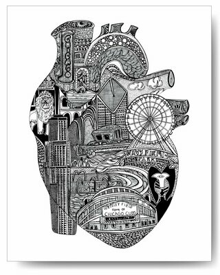 Chicago Heart Print