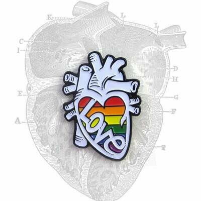 Anatomical Element PRIDE Heart Pin