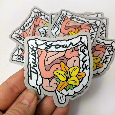 Anatomical Element TRUST YOUR GUT Sticker
