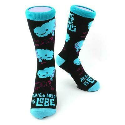 Brain Socks - All You Need is Lobe + Bring on the Brains Socks
