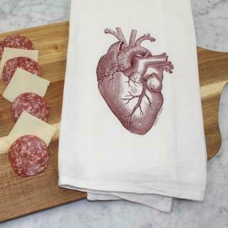 Anatomical Heart Towel