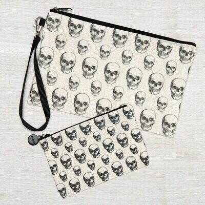 Skull Zipper Pouch