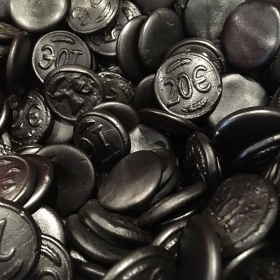 Salted Black Licorice Coins