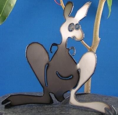 Kangaroo mum Metal art