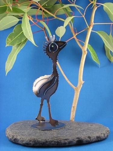Emu chick Metal art