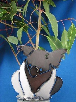 Koala sitting Metal art