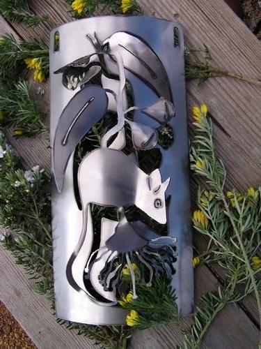 Possum honey wall hanging Metal art