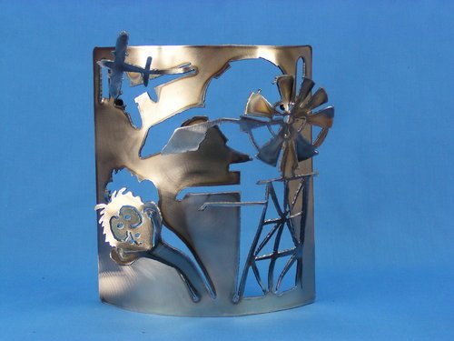 Windmill + Emu Wall Hanging 195mm